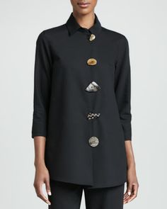Stretch-Gabardine Travel Jacket, Women\'s  by Caroline Rose at Neiman Marcus.