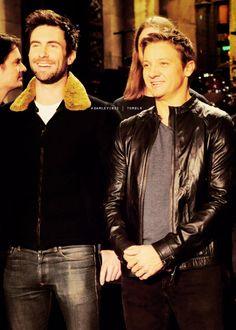 Dream Team ! Jeremy Renner and Adam Levine on SNL - Nov 17th 2012