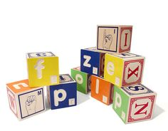 braille ABC blocks with sign language