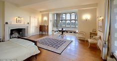 Relaxation: A spare bedroom in the house, which has a total of 11 bedrooms and is Grade I-listed