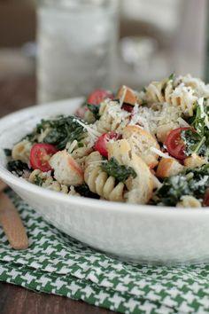 Tuscan Kale Caesar Pasta Salad + Jovial Giveaway - Live Simply
