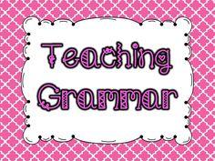 Teaching Grammar Pinterest Board.  Follow for fabulous ideas for teaching grammar in elementary.