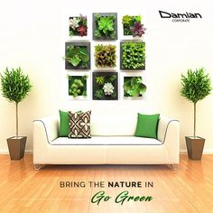 Wall-mount a fresh vertical #garden to add natural shades of #Green to your #home. #coloursofnavratri