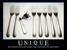 Being Unique Doesn't Make You Special