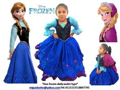 Princess Ana Anna Frozen disney Elsa dressup costume dress ball gown flower girl glitz pageant outfit  La Reine des neiges quinceanera on Etsy, $150.00