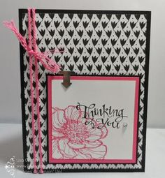 Black and Bloom - simple elegance! Stampin' Up!, Bloom with Hope, Back to Black designer paper, Sassy Salutations