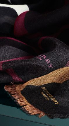 New shades for Autumn from Burberry - wrap up in claret, bright toffee and natural white cashmere scarves