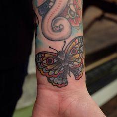 Little moth filler #gastowntattoo  (at Gastown Tattoo Parlour)
