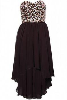 Embellished Mullet Hem Dres by OPULENCE ENGLAND @girlmeetsdress