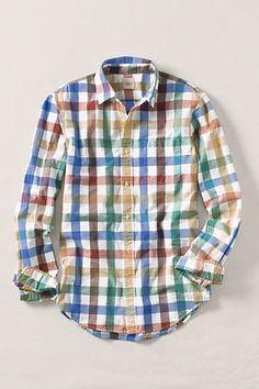 Multi-Check Poplin Shirt