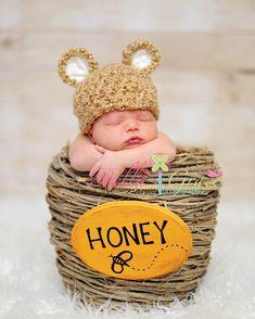 A little Halloween honey bear—custom crocheted in sizes from newborn to Toddler.
