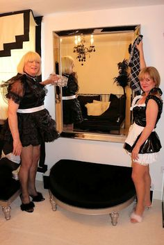 Dusting Sissy maids and make sure that mirror is absolutely spotless. A good sissy maid is excellent at cleaning.