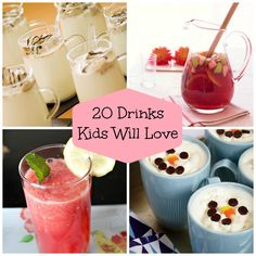 Quench the kiddos thirst with these drinks!