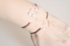 DIY Bracelets & Anklets: Rose Gold Chain and Copper Wire Initials and Hearts w/Pearls | Fashion | DIY | Lifestyle
