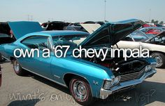 car, bucketlist, chevi impala, black 67 impala, die