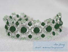 Make a bracelet that's sure to wow everyone you meet when you follow the instructions for the Irish Crystals Bracelet. The design features a lovely combination of intertwined crystals and seed beads that will give you practice in bead stitching and threading. Enjoy the luck of the Irish when you make this spectacular craft.