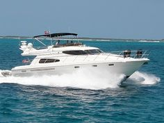 """""""Princess Chelsea"""" European Motor Yacht charter boat available for day charters in Miami."""