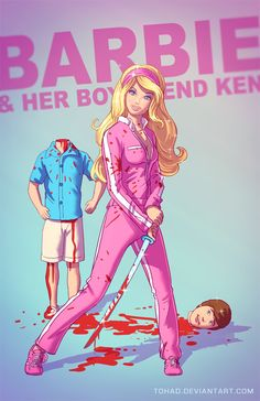 Barbie and Ken BADASS by Tohad on deviantART