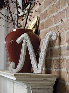 Create a glittery monogram perfect for a DIY wedding or just for fun.