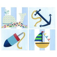 Nautical wall art.