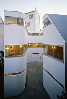 Japanese architects Yuji Nakae, Akiyoshi Takagi and Hiroshi Ohno have teamed up to build an apartment house complex specifically designed for motorcycle enthusiasts.