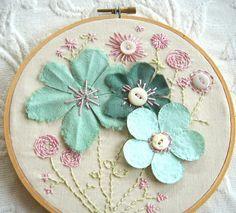 Appliqué flowers