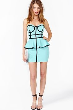 Follow The Line Peplum Dress