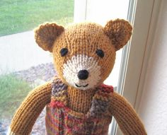 Plush Teddy Bear cudd bear, teddi bear, teddy bears, hand knit