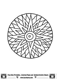 Free Printable Mandala Coloring Pages | free summer page coloring sheets sun mandala coloring pages free