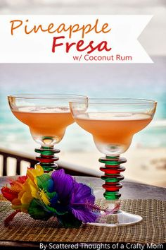 Tropical Drink of the Day: Pineapple, Strawberry and coconut rum