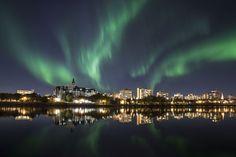 canada, citi light, saskatoon saskatchewan, light photo, northern lights
