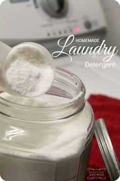 If you have ever considered making your own laundry detergent, check out this recipe for Homemade Laundry Detergent Powder.