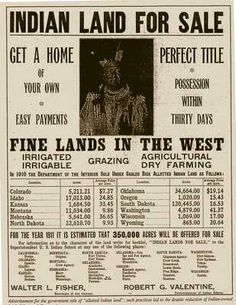 Indian Land for Sale.......  Top 10 Shameful Events in American History - Listverse