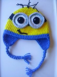 Custom Crocheted Minion Hat