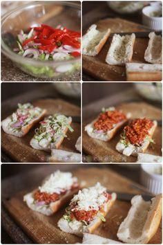 Chunky meat sauce sandwich