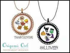 Origami Owl Halloween and Thanksgiving