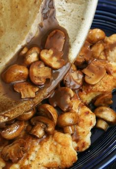 Chicken Marsala with Mushrooms.....serve with mashed potatoes.