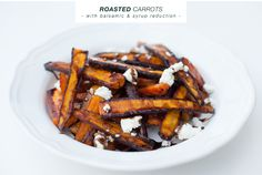 Roasted carrots with a balsamic & syrup reduction
