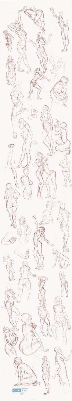 Studies Part II by juarezricci.deviantart.com on @deviantART   draw