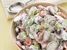 Garden Potato Salad #FNMag #myplate #veggies