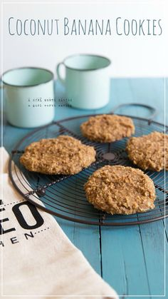 Coconut Banana Cookies (paleo) ::: AGirlWorthSaving.com