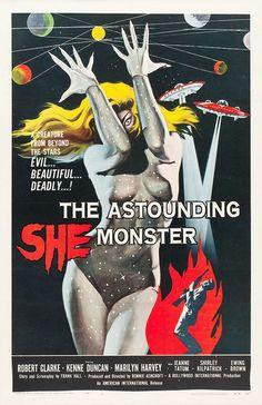 The Astounding She Monster (American International, 1958).