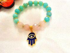 SALE  BOHO AMAZONITE braceletgypsy bracelet  ethnic by Nezihe1, $35.99