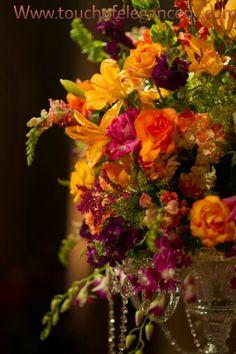 Touch of Elegance multicolor flower centerpiece