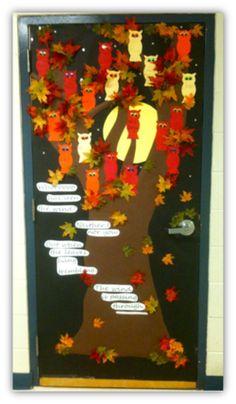 D co porte de la classe on pinterest bulletin boards teacher appreciation - Deco porte halloween ...