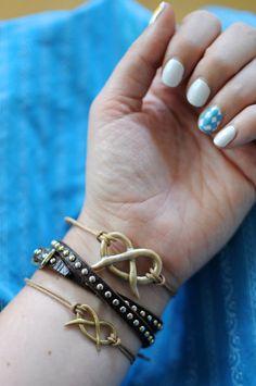 #DIY Polymer Clay Pretzel Bracelet #Tutorial