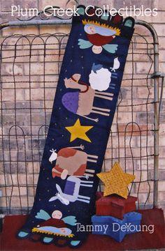 Christmas table runner tabl runner, christmas table runners, felt christmas, christmas tables, christma tabl, appliqu, quilt idea, diy christmas, christma quilt