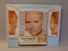 clairol true-to-light make up mirror with 4 settings: day, evening, home & office!