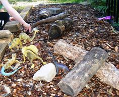 Imaginative play outdoors