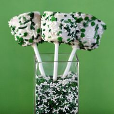 Caramel And Chocolate Covered Marshmallows for St. Patrick's Day